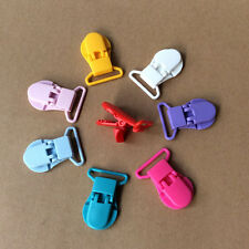 10pcs Baby Plastic Pacifier Clips Soother Dummy Clips Pacifier Holder