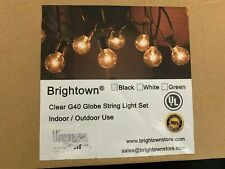 Brightown 50Ft G40 Outdoor Patio String Light-Connectable Globe Lights with