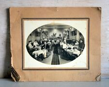 Old Antique Indian Dinning Hall Group Black & White Camera Photograph