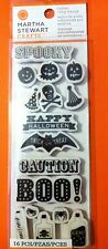 Martha Stewart Rubber Cling Stamps-Halloween-16 pc- Free Shipping