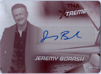 TNA Jeremy Borash 2010 Xtreme Magenta Printing Plate Autograph Card SN 1 of 1