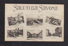 SAVONA (ITALIE) SALUTI da ... Tampon encreur au verso CROIX ROUGE ITALIENNE
