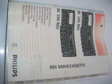 Bedienungsanleitung PHILIPS RC268RDS RC288RDS Autoradio