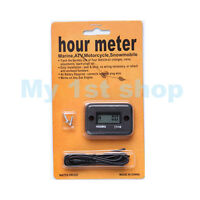 Hour Meter Marine ATV Motorcycle Dirt Ski Mower Boat Bike Engine waterproo BLACK