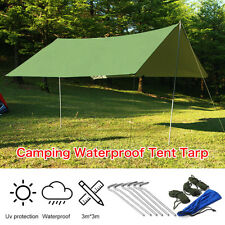 Waterproof Sunshade Tent Tarp Rain Fly Awning Outdoor Camping Hammock 10 x 10FT