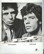 ROLLING STONES JAGGER & RICHARDS Original 1983 B & W Photo 8 x 10 Bill King