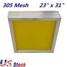 6pcs 23 X 31 Aluminum Frame Silk Screen Printing Screens With 305 Yellow Mesh