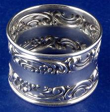 Gorham Melrose Sterling Silver Napkin Ring Scrolls Flowers #1232 Dewey Estate