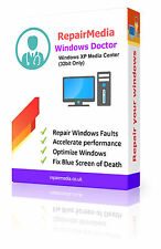 Windows XP Media Center Doctor Data Repair Recovery ReInstall DVD Software 32bit