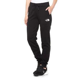 The NORTH FACE Black LOGO Sweatpants Pocket JOGGER Pants Womens Size XL NEW