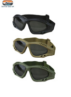 Tactical Spec Ops Glasses Tinted Polycarbonate Lens Airsoft Paintball