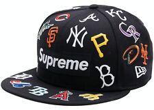 SUPREME MLB New Era Navy 7 3/8 box logo camp cap S/S 20