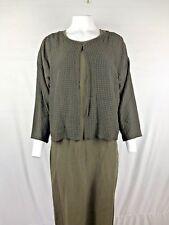 Eileen Fisher Dress & jacket set Size L/Large Olive green wool blend