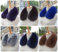 Women Real Fox Vulpes lagopus Fur Collar Wrap Great Style Scarves Shawls Collar