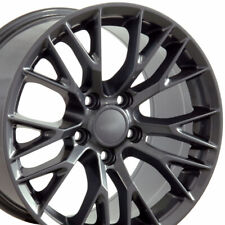 18x8.5 Wheels Gun Metal Fit Chevy Corvette Firebird Camaro Z06 Style Rims Set 4