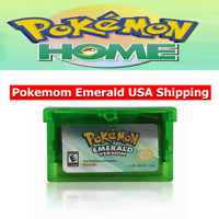 USA Pokemon Emerald Version Advance Gameboy Game Card GBA SP DS Lite Kids Gift