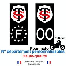 Stickers autocollant plaque d'immatriculation stade TOULOUSAIN moto NOIR RUGBY