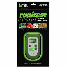 Luster Leaf Rapitest Electronic 3-Way Soil Analyzer - pH, Temperature, Fertility