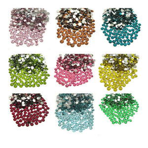 FLAT BACK ROUND RHINESTONES 4mm GLUE ON DIAMANTE CRAFTS NAILS ARTS AND CRAFTS