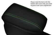 GREEN STITCH ARMREST LEATHER SKIN COVER  FITS TOYOTA AURIS 2012-2015