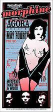 Morphine Poster Medeski Martin Wood 1996 Silkscreen Signed by Arminski