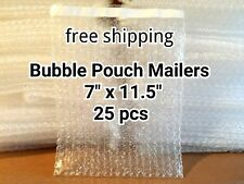 Lots Of 25 7 X 115 Bubble Out Bags Pouches Self Seal Mailers Bags Wrap Clear
