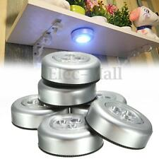 6Pcs Stick And Click LED Push Lights Self Adhesive Battery Operated Living Lamp