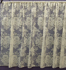 MARIELLA CREAM ALL OVER FLORAL JACQUARD NET CURTAIN BY THE METRE BEDROOM LOUNGE