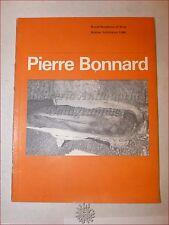 ARTE CONTEMPORANEA - PIERRE BONNARD Catalogo 1966 Royal Academy of Arts Illustr.