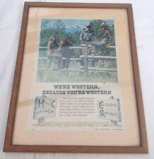 VINTAGE Pubblicità Western H Bar C Ranch Wear