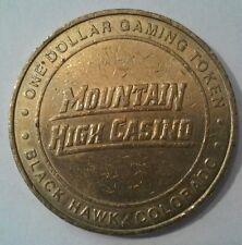 MOUNTAIN HIGH CASINO COLORADO HARD TO FIND $1.00 GAMING TOKEN!