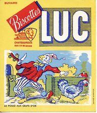 BUVARD PUBLICITAIRE / BISCOTTES LUC / CHATEAUROUX / LA POULE AUX OEUFS D'OR