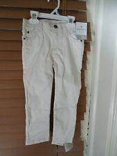 NEW Carter's Play Wear Pants - 4T - White Toddler Boys