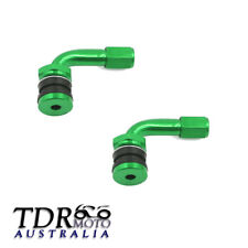 Green 2x Car Motorcycle Caravan Tyre Valve Extension Adaptor 90 Degree Aluminium