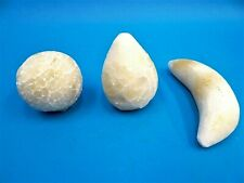 Mixed Lot of White Marble Stone Banana Faux Fruit Display Figures Decorative