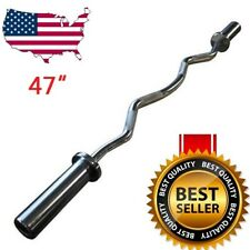 "47"" EZ Curl Bar Strength Training, Home Gym Equipment,Cross Weight Lifting"
