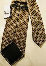 New GUCCI Tie Silk & Wool hand made in Italy NWT Gold Color