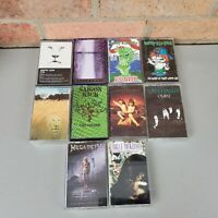 10 Cassette Tapes Lot 80s 90s Metal Megadeth Van Halen