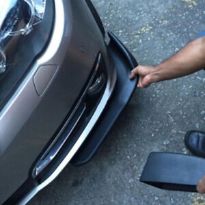 2X Car Front Bumper Lip Splitter Diffuser Fin Body Spoiler Canards Kit Universal