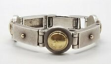 Modern Great Sterling Silver 925 14k Gold Laurence De Vries LDV Mens Bracelet