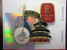 Lot of 100 Beijing 2008 Olympic Pin -2006 Torino to 2008 Beijing Olympic Bridge
