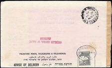 Palestine, Advice of Delivery Consulate General of Poland Jerusalem 1939