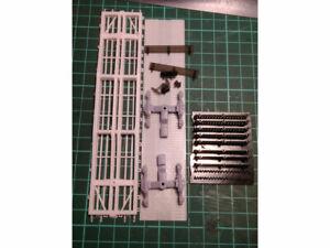 Kit for assembly model of open platform RZD SZD HO scale