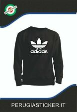 Felpa uomo Nera logo Adidas - felpa girocollo unisex