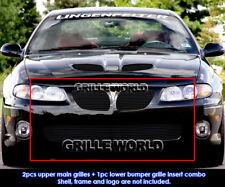 Fits 2004-2006 Pontiac GTO Black Billet Grille Combo Insert