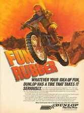 1978 Dunlop K-88 Motorcycle Motocross Tires - Fun Rubber - Vintage Ad