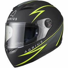 Agrius Rage Fuse Motorcycle Helmet L Matt Black/fluro Yellow
