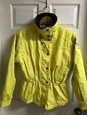 NEW Women's Sz 8 MARKER Ski Jacket Snow Board Waterproof Hidden Hood YELLOW