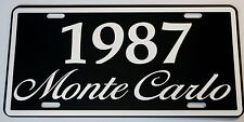 1987 87 MONTE CARLO METAL LICENSE PLATE 350 400 454 SS LOWRIDER NASCAR CHEVY