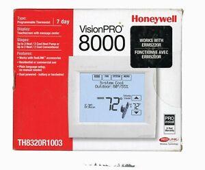 Honeywell VisionPro 8000-TH8320R1003  works with RedLINK